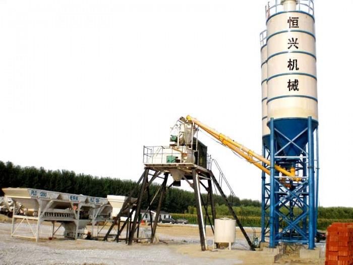 HZS series concrete mixing plant (Skip-hoist type)